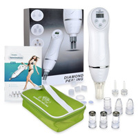 6 Tips Mini Diamond Dermabrasion Skin Peeling Beauty Machine Vacuum Blackhead Acne Remove Face Cleaning Facial