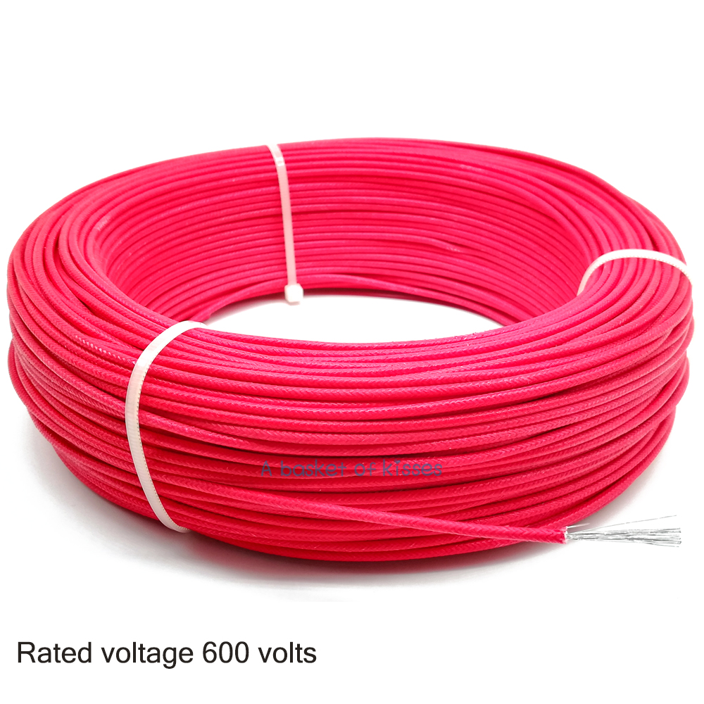 small resolution of 50m 100m 19awg fiberglass silicone rubber wire multiple strands of pure copper wire household power cable in wires cables from lights lighting on