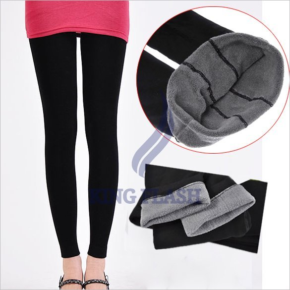 free shipping Winter Bamboo Carbon Fiber Double Thermal Warm Tights Footless Pants