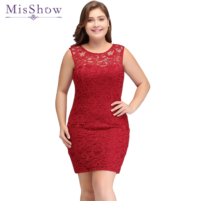 Cheap Red Short Prom Dresses 2018 New Sleeveless Plus Size Prom