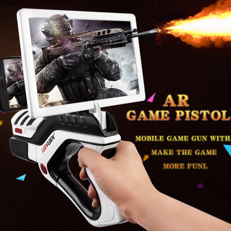 AR Game AR Pistol Portable Bluetooth AR Gun Shooting Game Smartphones Bluetooth Control font b Toy