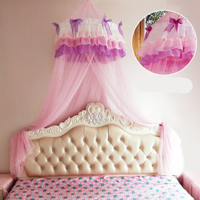 Baby Children Elegant Lace Bed Dome Elegent House Netting Canopy Circular Pink Malla De Round Bedding Mosquito Net In From Home