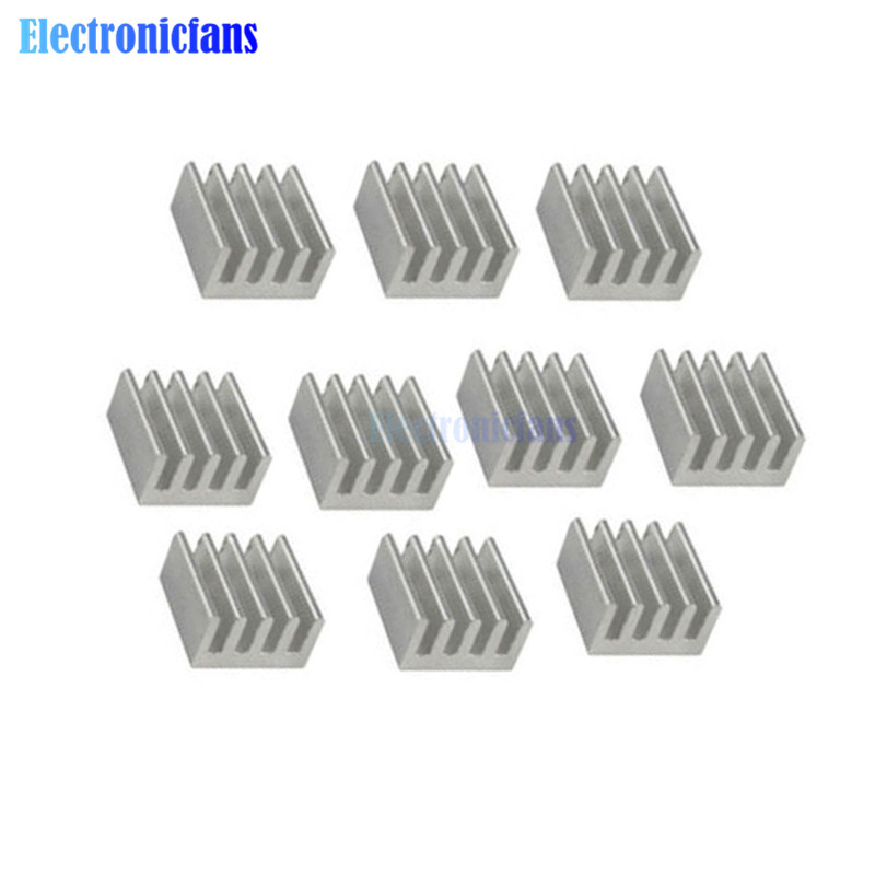 10pcs Aluminum Heat Sink  8.8x8.8x5mm For Computer Memory Chip LED Power IC