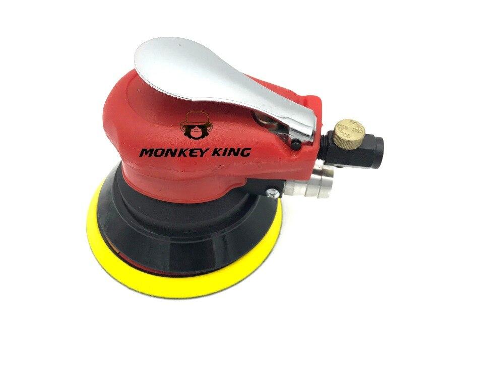 цена на 150mm Random Orbital Dual Action Air Sander With Vacuum Burnish Machine Pneumatic Tools Free Shipping
