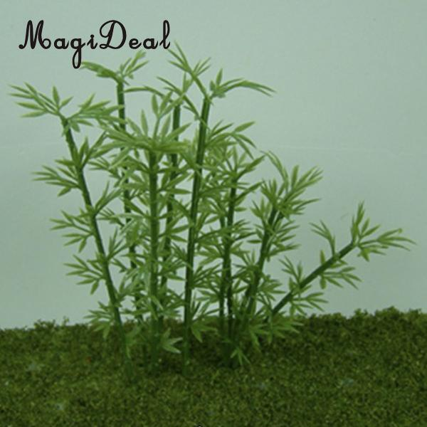 MagiDeal High Simulation 100Pcs/Lot Plastic Model Bamboo Trees for Courtyard Park Garden Street Railway Railroad Layout Scenery