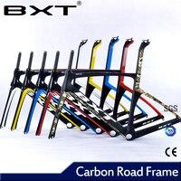 Bxt 2017 x الفرامل الكربون إطار 49 52 54 56 الكربون t800 الإطار الكربون الطريق دراجة الإطار مع شوكة مخفي الفرامل الكربون الطريق الإطار
