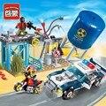 Policía enlighten bloques de construcción de juguetes educativos para niños de regalos minifigure moto cars arma compatible con legoe