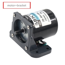 Модернизированная модель 68KTYZ AC синхронный двигатель с кронштейном 220 В 2,5 об/мин-110 об/мин микро мотор-редуктор постоянный магнит двигатель