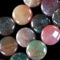 """Натуральный камень 12 мм агат оникс яшма монета форма без тары бусины ювелирные изделия 15 """" AAA BV122"""