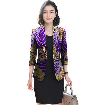 African festival fashion print women slim blazers elegant design style tops dashiki casual suit africa clothing 5