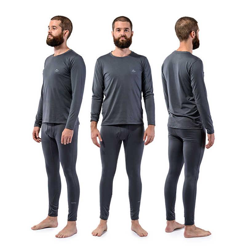 Pria Pakaian Dalam Termal Set Sepeda Motor Ski Musim Dingin Hangat Lapisan Dasar Atasan Lengan Panjang & Bawah Celana Set Kaus Dalam