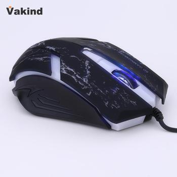 Professional Gaming mouse Optical Wired Mouse Adjustable DPI 6 Buttons 7 color Light Plug & Play For Pro Gamer เมาส์