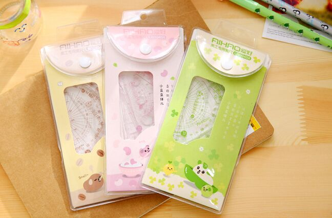 4pcs/set Cute Art Special Ruler Set Tool Promotional Gift Stationery Office School Supplie Korean Papelaria