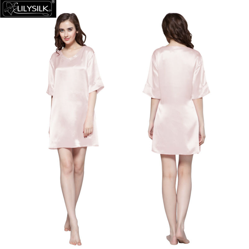1000-light-pink-22-momme-wide-v-neck-silk-nightgown
