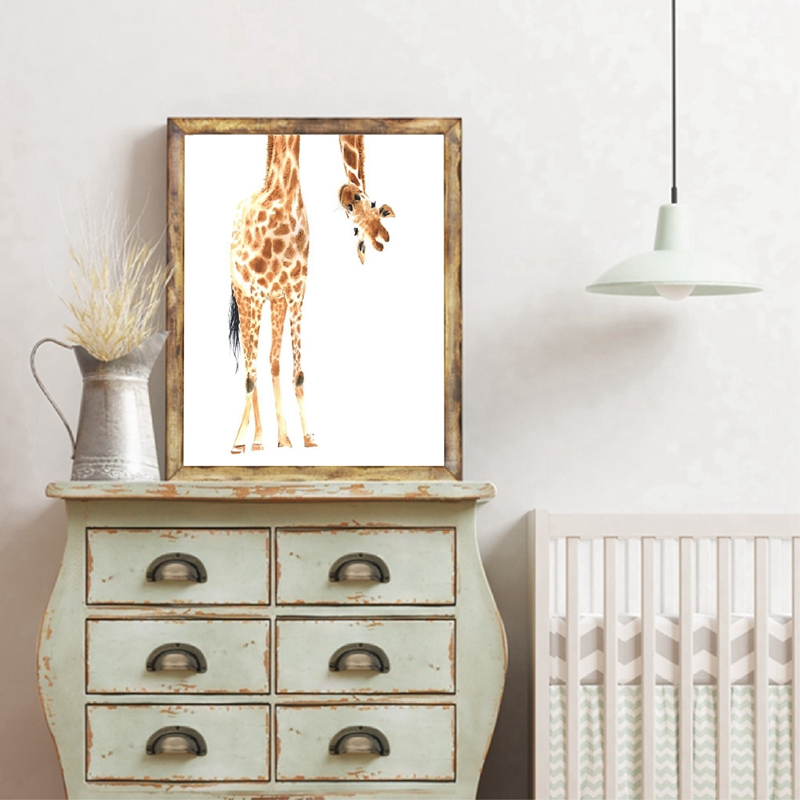 Giraffe Poster Canvas Art Painting Home Decor