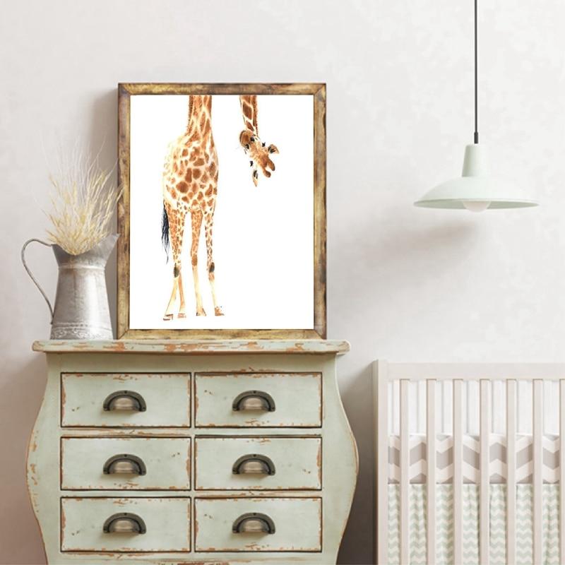 Giraffe Poster Canvas Art Painting Home Decor