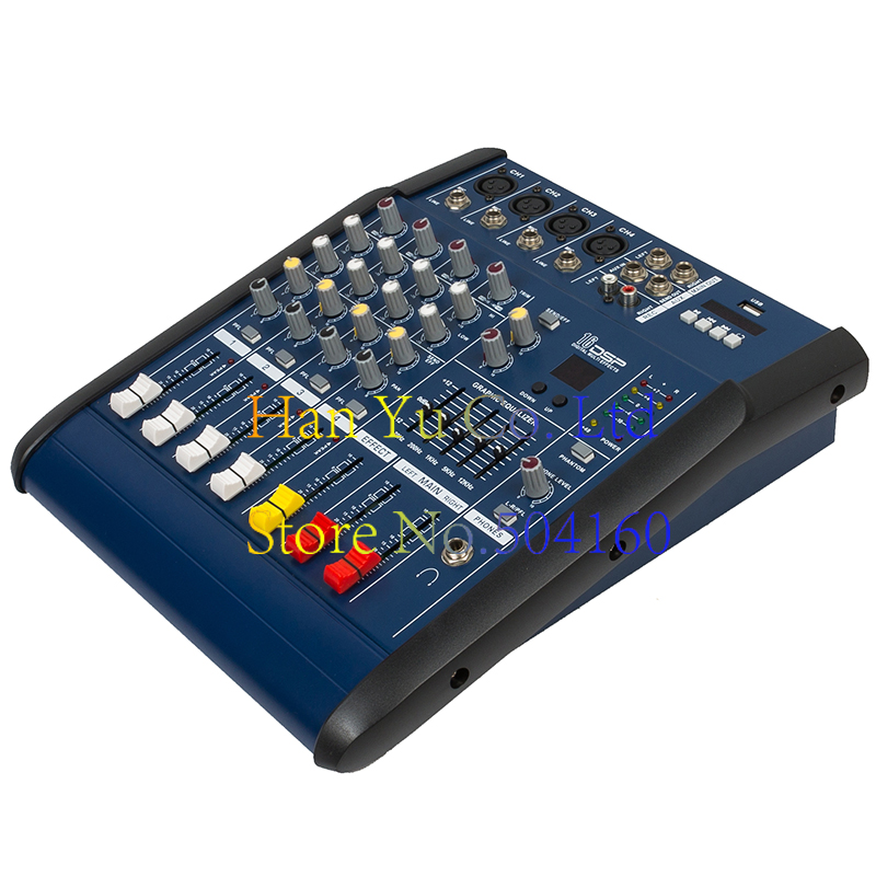 Professional Karaoke Audio Mixer Power Amplifier 4/6/8/12 Channel Microphone Sound Mixing Console With USB 48V Phantom Power professional 4 channel live mixing studio audio sound console network anchor portable mixing device vocal effect processor