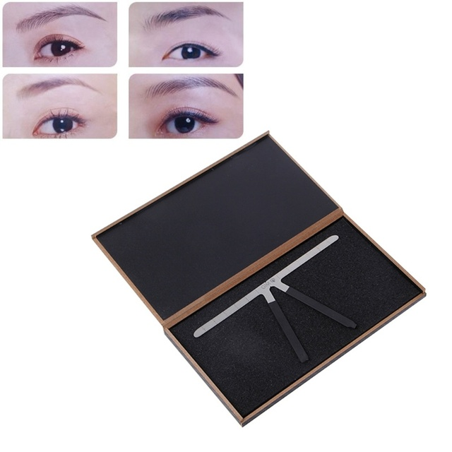 Fashion Eyebrow Tattoo Stencils Microblading Reusable Makeup Brow Measure Eyebrow Guide Ruler Permanent Tools 2