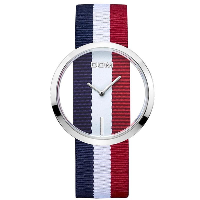 цена на DOM Watches women top brand luxury Casual Leather Quartz watch female Clock girl dress wrist relogio montre femme saati LP-205
