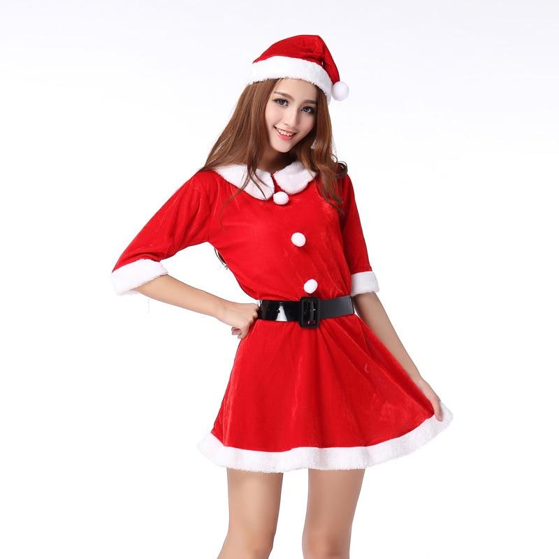Santa Christmas Costumes Dresses