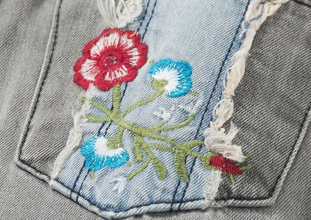Della Delle A Jeans Femminile Vita Stratched Dei Grigio Del Dneim Ricamo Larghi Rappezzatura Nappa Piedino Pantaloni Autunno Donne Primavera Donna Alta R6qUx5tw5