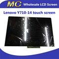 Envío libre a estrenar para lenovo yoga 710 14 b140han03.0 80ty0009us fhd lcd asamblea del digitizador de la pantalla táctil led