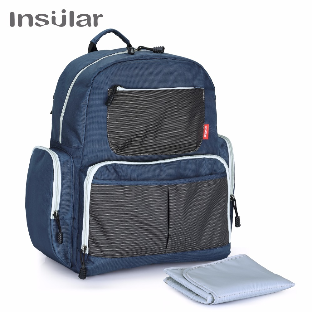 Insular Diaper Bag Fashion Mummy Maternity Nappy Bag Baby Travel Backpack Diaper Organizer Nursing Bag for Baby Stroller insular maternity bag fashion baby nappy changing bag mommy diaper stroller backpack baby organizer bag