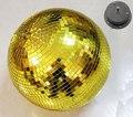 """D25cm diâmetro rotativa bola de espelhos De vidro de Ouro 10 """"disco DJ party iluminação 100 v ou 230 v Motor de Rotação bolas de decoração de casa de férias"""