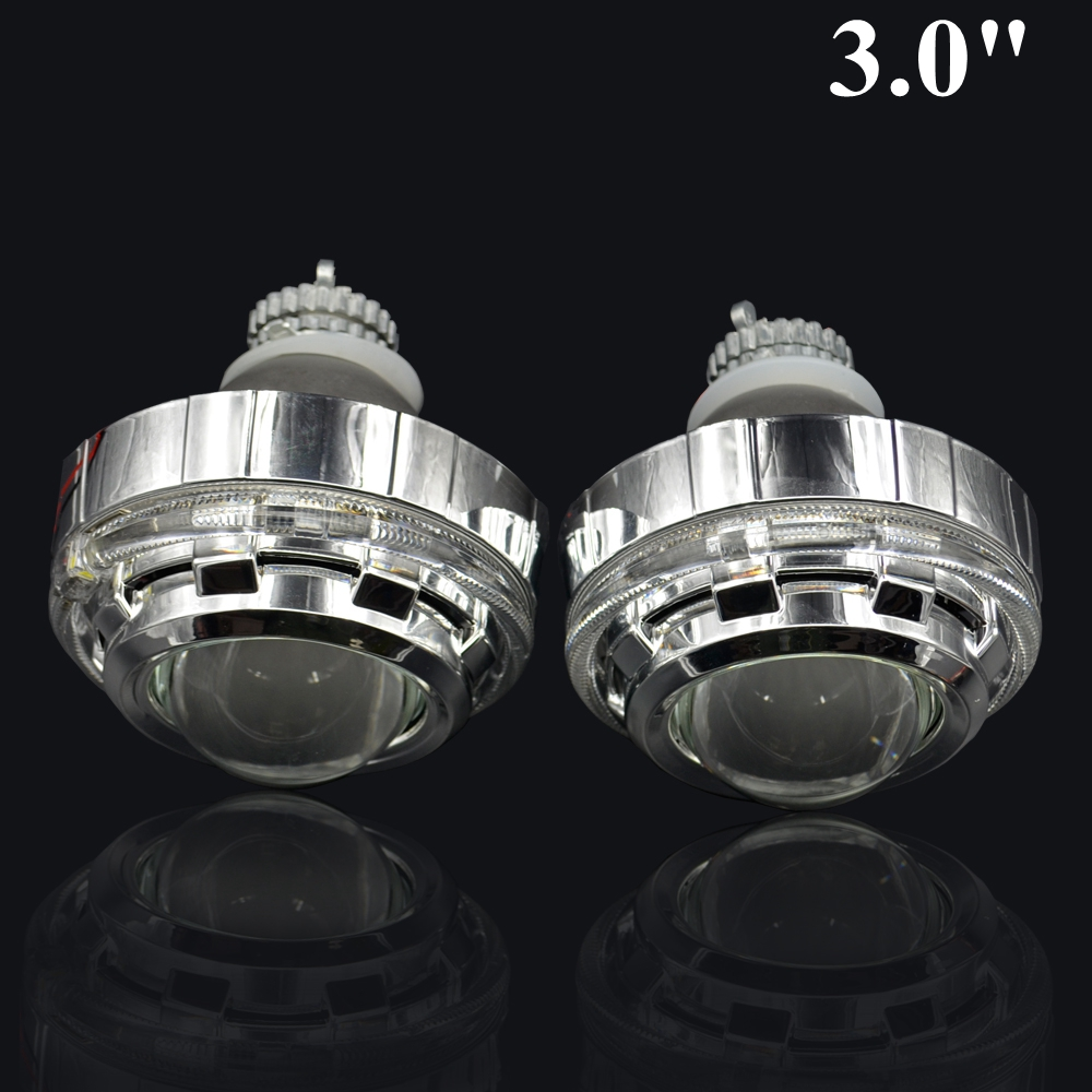 2pcs 3.0 inch H4Q5 Bi xenon Bixenon hid Projector lens metal holder for range rover LED day running angel eyes xenon руководящий насос range rover land rover 4 0 4 6 1999 2002 p38 oem qvb000050