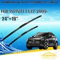 "Escovas Para INFINITI FX37 (2009-) 2010 2011 2012 2013 2014 Car Windscreen Windshield Wiper Wiper Blade 24 ""+ 19"" carros estilo"