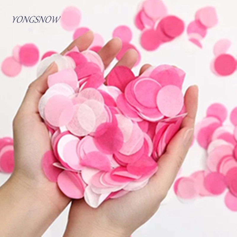 Faithful 1000pcs Circle Shape Round Sprinkles Tissue Paper Confetti Boda Birthday Party Wedding Table Decoration Pinata Balloon Fillers High Quality Materials Home & Garden Event & Party