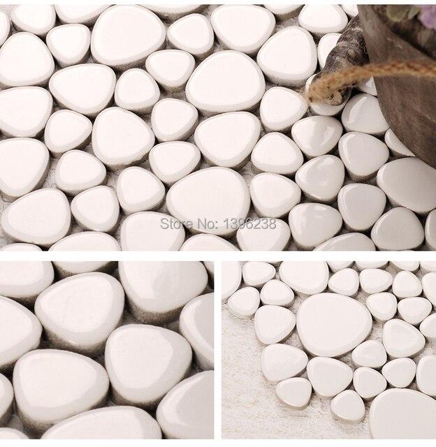 Spedizione gratuita! Bianco Ceramica Smaltata Mosaico Piastrelle ...