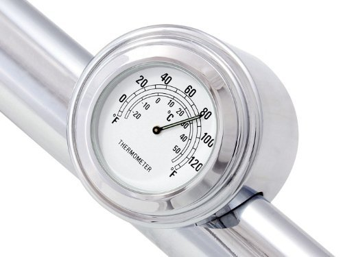 "7/8"" 1"" Motorcycle Handlebar Chrome White Dial Clock for Yamaha Kawasaki Honda Suzuki Harley Davidson Cruiser Bobber"