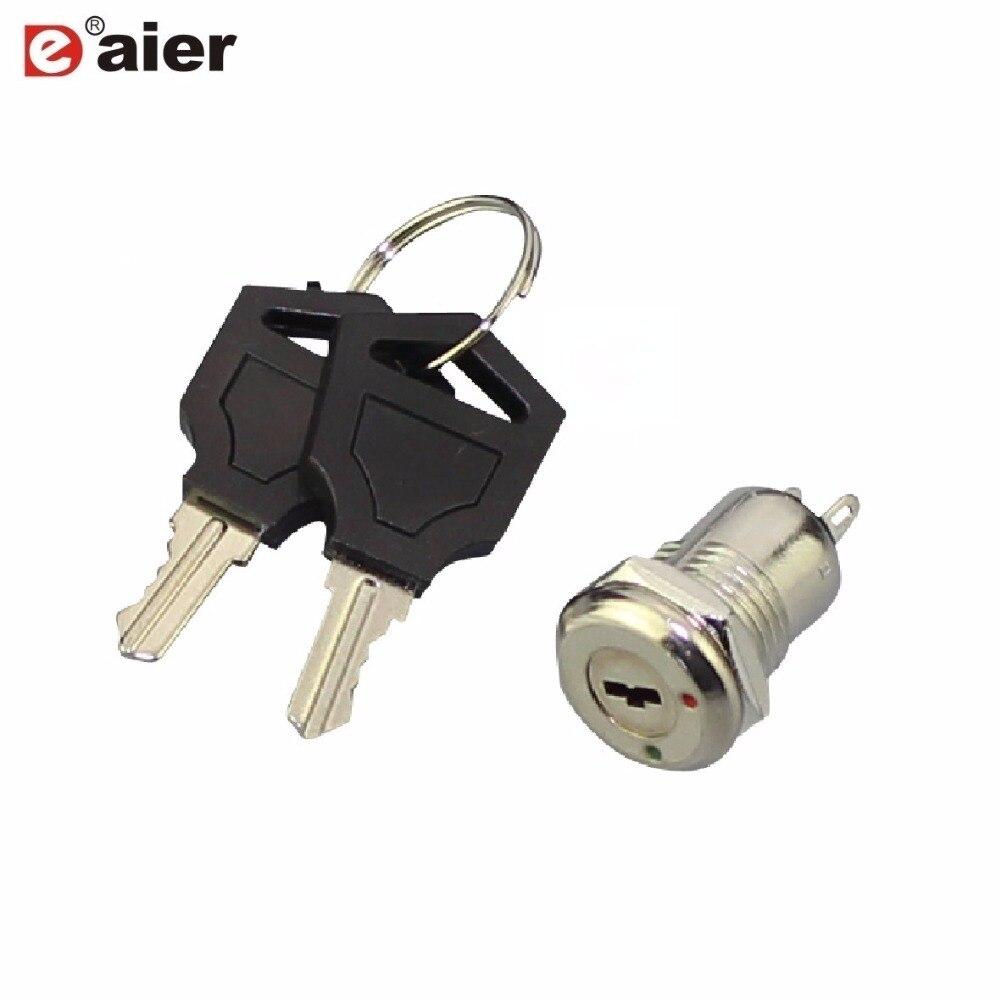 Keys 2 Position SPST 12V On//Off Metal Security Key Switch Lock