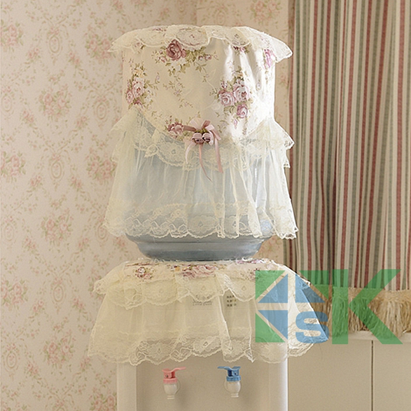 2016 Hot Sale Pastoral Style Cover Used For Washing Machine Fashion Rose Pattern Dispenser Beautiful Rustic Dust Cover Set image