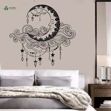 YOYOYU Vinyl Wall Decal Cloud Moon Anthropomorphic Pendant Kids Baby Room Removable Home Decoration Stickers FD275