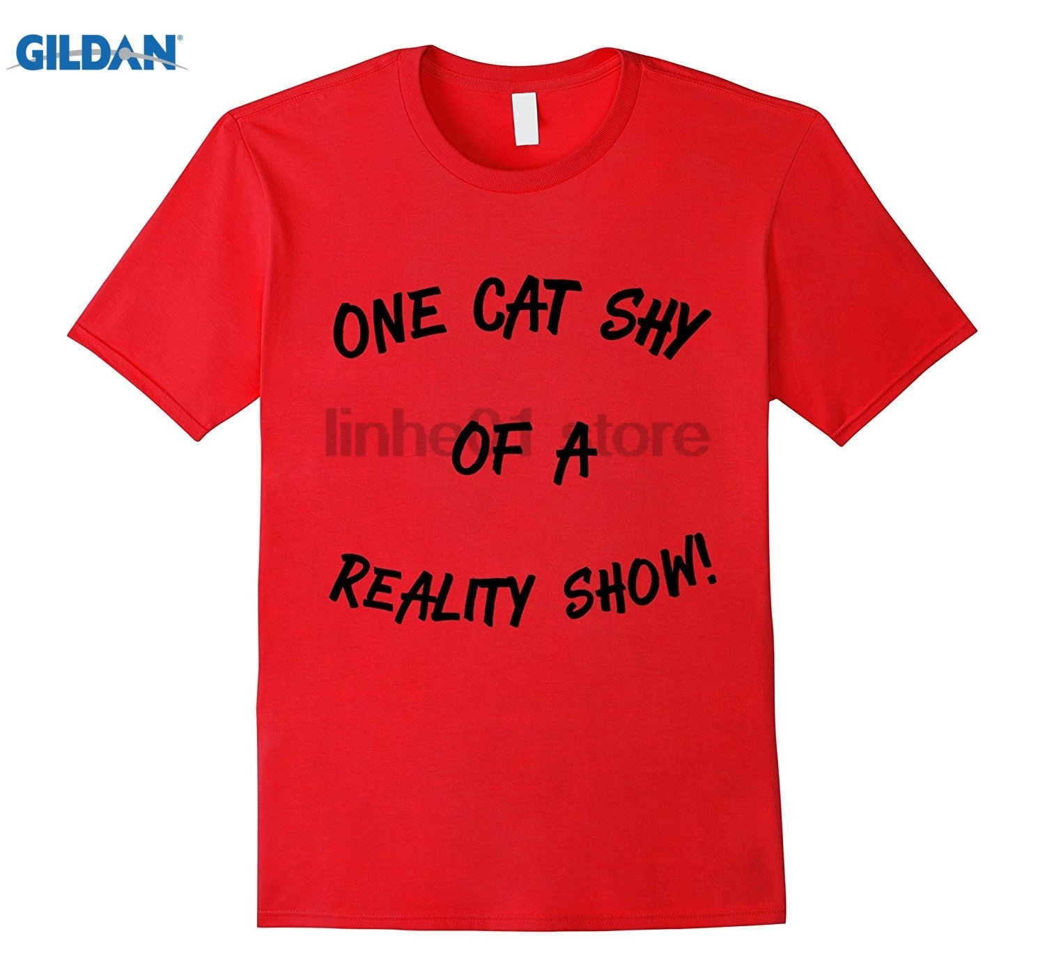 GILDAN One Cat Shy of a Reality Show! sunglasses women T-shirt ...