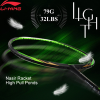 Li Ning Turbo Charging 75C/75I/75D Badminton Racket Nasir Fu Haifeng Single Racket No String AYPM392/AYPM396/AYPM424 ZYF305