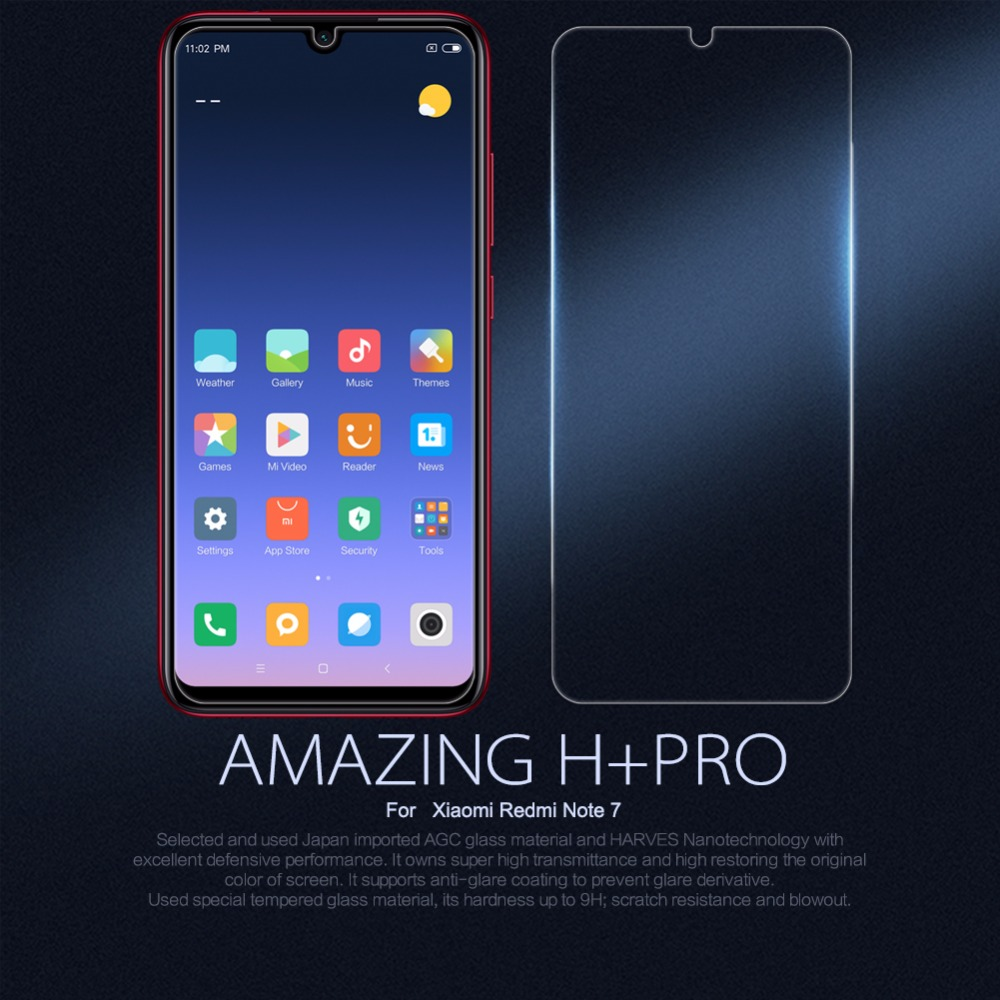 Screen Protector For xiaomi redmi note 7 NILLKIN Amazing H+Pro Tempered Glass Protective film For xiaomi redmi note 7 note 6 pro