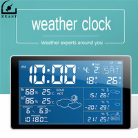 ZEAST Household Weather Station Wifi Weather Clock Radio Digital Temperature Humidity Meter Clock Thermometer Connecting Phone