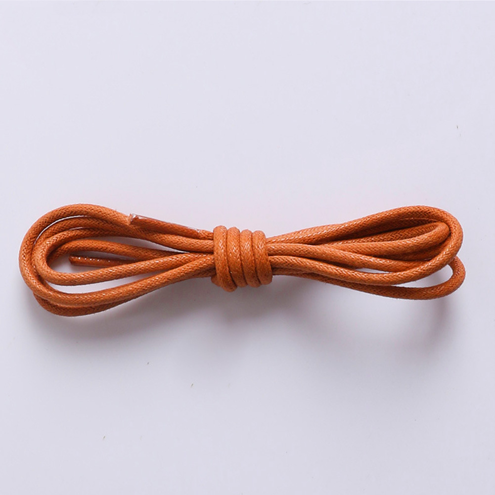 Simple Waxed Coloured Shoelaces For Leather Shoe Lace Round Strings Martin Boots