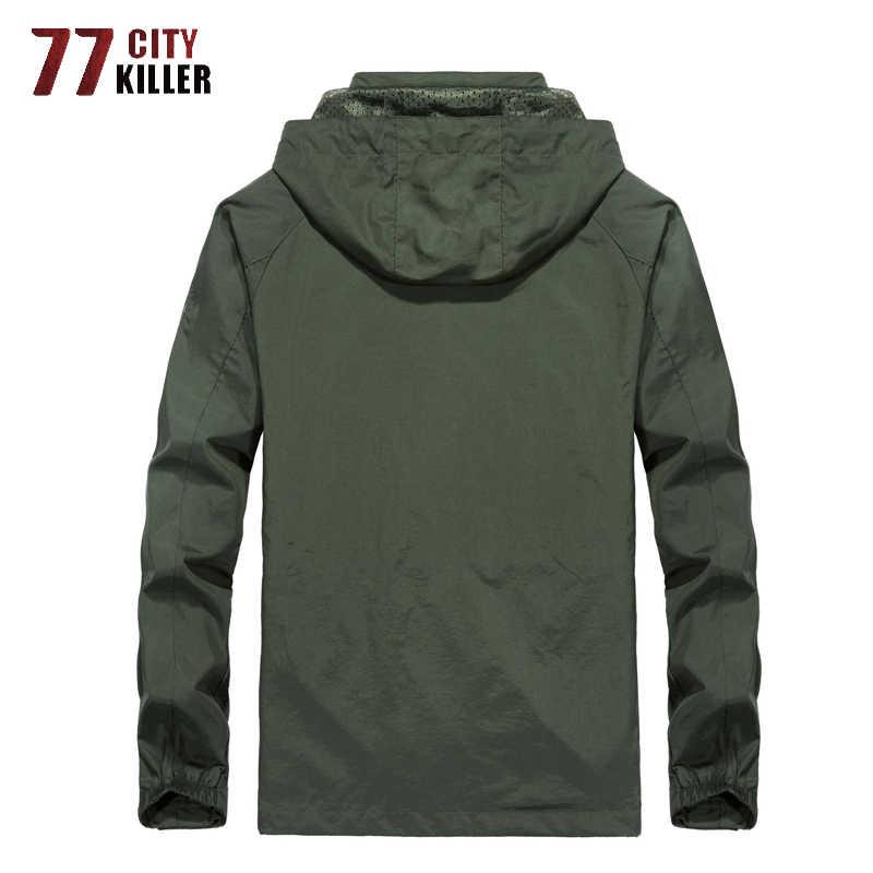 77 City Killer с капюшоном водонепроницаемая мужская куртка одежда в Военном Стиле Mush Liner быстросохнущее дышащее пальто мужской плюс размер M-6XL