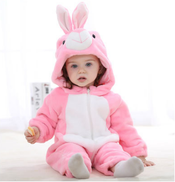 New Born Baby Hooded Toddler Cute Rompers 5