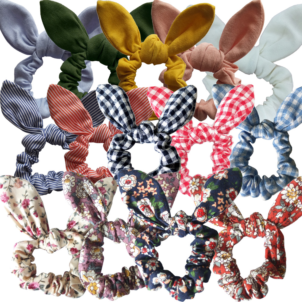 Girls/Women Hair Accessories Rabbit Ears Hair bands Bunny Ears Hair Bow Tie Scrunchie Elastic Ponytail Holder Hair Elastic Bands new 10pcs women lady hair band velvet elastic ponytail tie bow rubber bobbles lovely