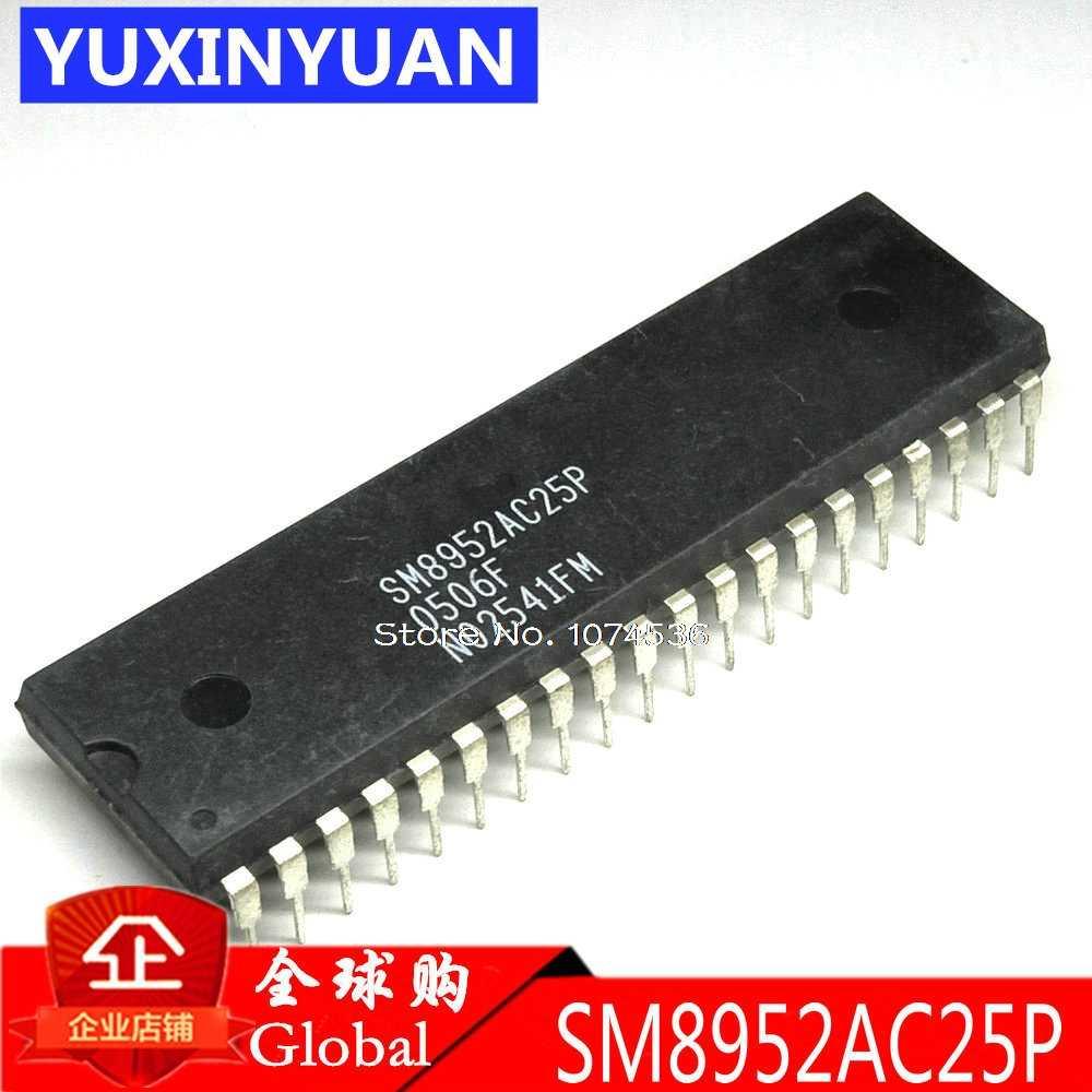 1 Uds. SM8952AC25P SM8952 DIP controlador de 8 Bits con flash integrado de 4/8KB