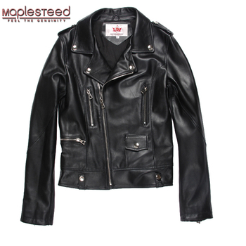 MAPLESTEED Brand Women Leather Jacket 100% Sheepskin Coat Women's Lambskin Coat Bomber Genuine Leather Jackets Spring Autumn 001