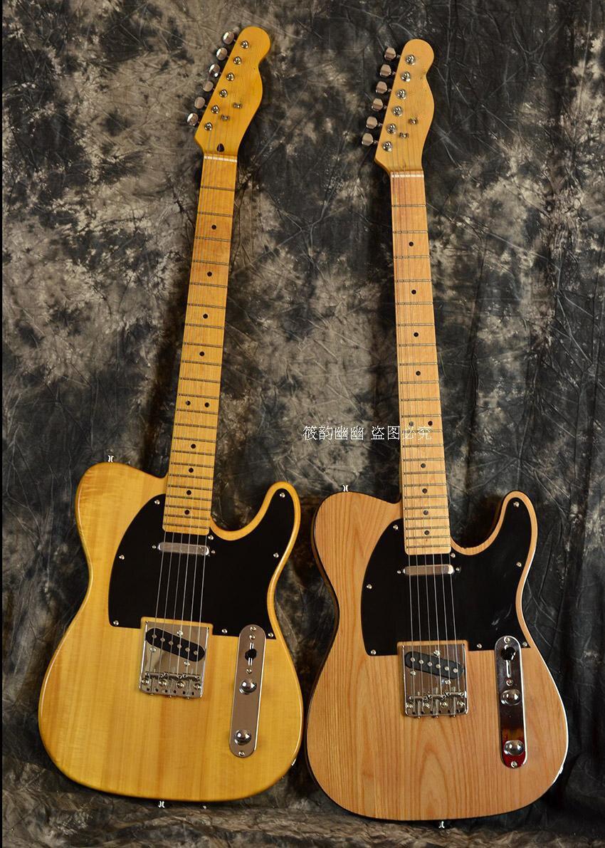 Acceptez la coutume n'importe quel bois n'importe quel Style évaluation vidéo guitare électro électrique Guitarra 6 chaîne Telecaster LP bricolage cercle