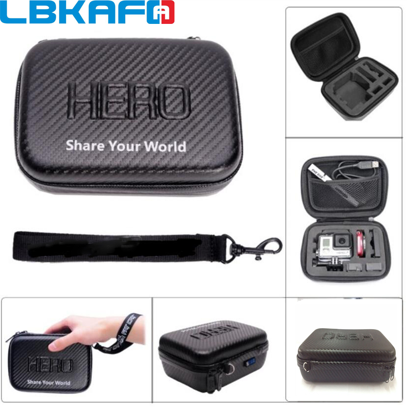 LBKAFA For Gopro Waterproof Gopro Camera Bag Small Portable Shockproof for SJCAM SJ6 SJ7 SJ5000 SJ4000 Gopro 3 3+ 4 5 6 EVA Case