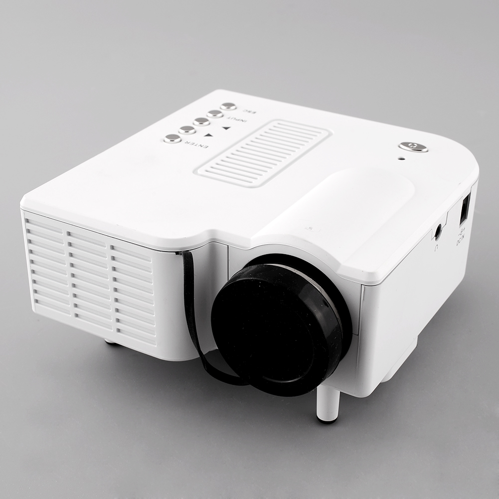 Yg300 portable led projector cinema theater pc for Small hdmi projector