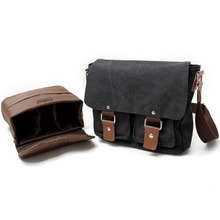 цена на Canvas SLR Camera Bag  for Canon for Nikon for Sony Micro Messenger Shoulder Bag MuChuan 2101ND